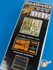HGW: Seatbelts 1/32 scale - North American P-51 Mustang  D - photo-etch and textile - for Tamiya reference TAM60322