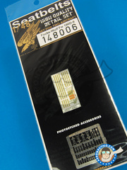 HGW: Seatbelts 1/48 scale - Focke-Wulf Fw 190 Würger  D-9 - photo-etched parts and other materials - for all kits
