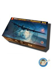 HK Models: Airplane kit 1/32 scale - Avro Lancaster B.Mk.III Dambuster - plastic parts, water slide decals and assembly instructions
