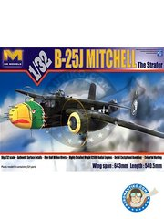 HK Models: Airplane kit 1/32 scale - B-25J Mitchell The Strafer -  (US7) - photo-etched parts, plastic parts, water slide decals and assembly instructions