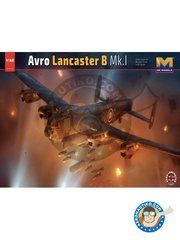 HK Models: Airplane kit 1/32 scale - Avro Lancaster B.Mk.I - June 1943 (GB4); Waddington, UK, May 1944 (GB4); UK, May 1944 (GB4) - RAF - photo-etched parts, plastic parts and water slide decals