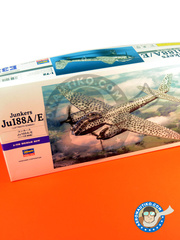 Hasegawa: Airplane kit 1/72 scale - Junkers Ju188 A/E 1943, 1944 and 1945 - plastic model kit image