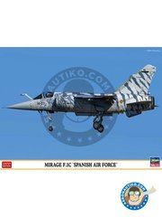 Hasegawa: Airplane kit 1/72 scale - MIrage F.1C 'Spanish Air Force' -  (ES0) - Spanish Air Force Wing 14 - plastic parts, water slide decals and assembly instructions