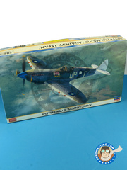 Hasegawa: Airplane kit 1/48 scale - Supermarine Spitfire Mk. VIII 1945 - plastic model kit image