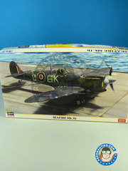 Hasegawa: Airplane kit 1/48 scale - Supermarine Seafire Mk. Ib 1943 and 1944 - plastic model kit image