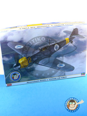 Hasegawa: Airplane kit 1/32 scale - Messerschmitt Bf 109 G-2 - Finnish Air Force (FI1) - different locations 1943 and 1944 - plastic parts, water slide decals and assembly instructions