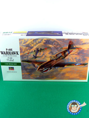 Hasegawa: Airplane kit 1/48 scale - Curtiss P-40 Warhawk E - (US5); Summer 1942 (US5) - plastic parts, water slide decals and assembly instructions image