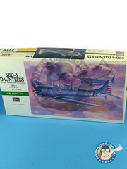 Hasegawa: Airplane kit 1/48 scale - Douglas SBD Dauntless 3 - plastic model kit image