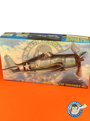 Hasegawa: Airplane kit 1/48 scale - Grumman F6F Hellcat 3 1945 - plastic parts, water slide decals and assembly instructions image