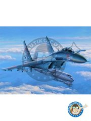 Hobby Boss: Airplane kit 1/48 scale - Su-27 Flanker Early Version -  (RU2) - Russia 1985 - photo-etched parts, plastic parts, water slide decals and assembly instructions