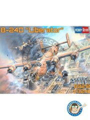 Hobby Boss: Airplane kit 1/32 scale - B-24D Liberator - plastic parts, water slide decals and assembly instructions