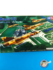Hobby Boss: Airplane kit 1/48 scale - Dassault Mirage III C - plastic parts, water slide decals and assembly instructions