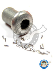 Hobby Design: Rivets - Rivet head 0.75mm - turned metal parts - 40 units