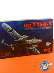 ICM: Airplane kit 1/48 scale - Dornier Do 215 B-5 Nightfighter - Tunisia, April 1943 (DE2) 1941 and 1942 - plastic model kit image