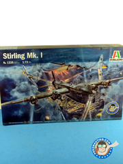 Italeri: Airplane kit 1/72 scale - Short Stirling - RAF (GB3); Luftwaffe (DE2) - photo-etched parts, plastic parts, water slide decals and assembly instructions image