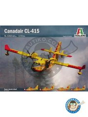 Italeri: Airplane kit 1/72 scale - Canadair CL-415 -  (IT0);  (FR0);  (ES0) - plastic parts, water slide decals and assembly instructions