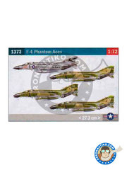 Italeri: Airplane kit 1/72 scale - McDonnell Douglas F-4 Phantom II C / D / J - USAF (US7); USAF (US0); US Navy (US0) - Vietnam War - plastic parts, water slide decals and assembly instructions image