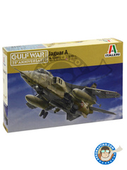 Italeri: Airplane kit 1/72 scale - Sepecat Jaguar A - Armée de l'Air (FR3) - Gulf War 1991 - plastic parts, water slide decals and assembly instructions image