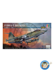 Italeri: Airplane kit 1/32 scale - Lockheed F-104 Starfighter A / C - USAF (US0); Taiwanese Air Force (TW2) - Vietnam War - photo-etched parts, plastic parts, water slide decals and assembly instructions image