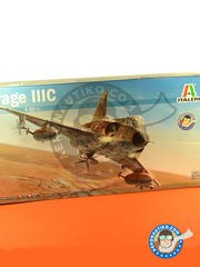 Italeri: Airplane kit 1/32 scale - Dassault Mirage III C - Armée de l'Air (FR3); South African Air Force (ZA4); Achmer, early summer 1943. (DE2); Israeli Air Force (IL0) - different locations, Six Days War - plastic parts, water slide decals and assembly instructions image