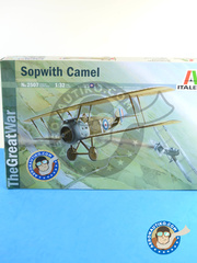 Italeri: Airplane kit 1/32 scale - Sopwith Camel - RAF (GB0) - World War I - plastic parts, water slide decals and assembly instructions