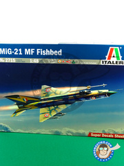 Italeri: Airplane kit 1/48 scale - Mikoyan-Gurevich MiG-21 Fishbed - plastic parts, water slide decals and assembly instructions