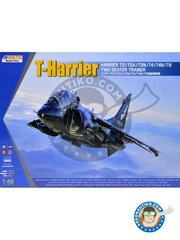 Kinetic Model Kits: Airplane kit 1/48 scale - T-Harrier - 2004-2005 (GB1); 1996 (GB1); 1985 (GB1); 1992 (GB1); 1975 (GB1); 1980 (GB1); late 1970 (US0); 1988 (ES0); late 1990 (TH0) - different locations - photo-etched parts, plastic parts, water slide decals and assembly instructions