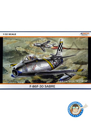 Kinetic Model Kits: Airplane kit 1/32 scale - North American F-86 Sabre
