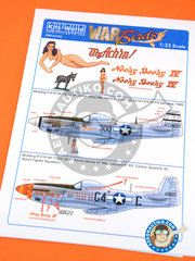 Kits World: Marking / livery 1/32 scale - North American P-51 Mustang D - Iwo Jima, 1945 (US7); Summer 1944 (US7) - water slide decals and assembly instructions - for all kits image