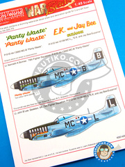 Kits World: Decals 1/48 scale - North American P-51 Mustang D - USAF (US7) - for Airfix reference A05131