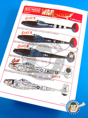 Kits World: Decals 1/48 scale - Lockheed P-38 Lightning J