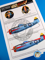 Kits World: Decals 1/72 scale - Republic P-47 Thunderbolt D - USAF (US7)