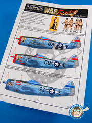 Kits World: Decals 1/72 scale - Republic P-47 Thunderbolt - USAF (US7)