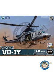 Kitty Hawk: Helicopter kit 1/48 scale - UH-1Y Venom - photo-etched parts, plastic parts, water slide decals and assembly instructions