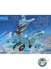 Kitty Hawk: Model kit 1/48 scale - Su-27 Flanker-B - plastic parts, water slide decals and assembly instructions