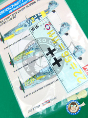 Kora Models: Marking / livery 1/72 scale - Messerschmitt Bf 109 G-2/4 - water slide decals - for all kits