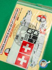 Kora Models: Marking / livery 1/72 scale - Consolidated B-24 Liberator H - water slide decals - for all kits