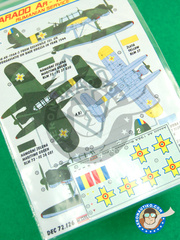 Kora Models: Marking / livery 1/72 scale - Arado Ar 196 A-3 - water slide decals and placement instructions - for all kits image