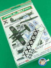 Kora Models: Marking / livery 1/72 scale - Arado Ar 196 A-3 - water slide decals and placement instructions - for all kits
