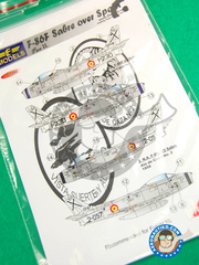 LF Models: Decals 1/72 scale - North American F-86 Sabre F
