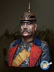 LIFE MINIATURES: Bust 1/16 scale - Paul von Hindenburg, circa 1916-1917 Scale 1/10 - resin parts