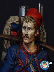 LIFE MINIATURES: Bust 1/16 scale - French Zouave Regiment in 1914 - resin parts