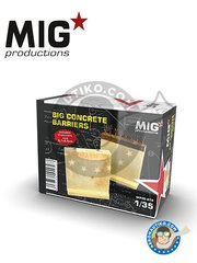MIG Productions: Barrier 1/35 scale - Big concrete barriers - resin parts and assembly instructions - for all dioramas or scenes - 2 units
