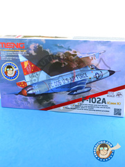 Meng Model: Airplane kit 1/72 scale - Convair F-102 Delta Dagger A - USAF (US0) - USAF - plastic parts, water slide decals and assembly instructions image