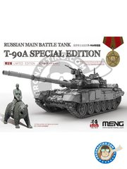 Meng Model: Tank kit 1/35 scale - Russian Main Battle Tank T-90A Special Edition - plastic parts, resin parts, water slide decals and assembly instructions
