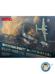 Meng Model: Airplane kit 1/48 scale - Messerschmitt Me 410 B-2/U2/R4 - West Europe 1944 (DE2); Czechoslovakia 1944 (DE2); Germany 1944 (DE2) - photo-etched parts, plastic parts, water slide decals and assembly instructions