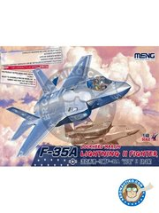 Meng Model: Airplane kit 1/48 scale - Lockheed-Martin F-35A Lightning II - HILL ATB, Utah (US2); Eglin AFB, Florida (US2) - USAF 2012 - photo-etched parts, plastic parts, water slide decals and assembly instructions