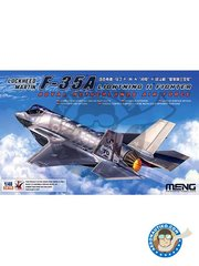 Meng Model: Airplane kit 1/48 scale - Lockheed Martin F-35A Lightning II - plastic parts, water slide decals and assembly instructions