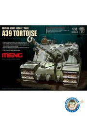 Meng Model: Tank kit 1/35 scale - British Heavy Assault Tank A39 Tortoise - plastic parts, other materials and assembly instructions