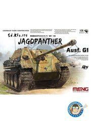 Meng Model: Tank kit 1/35 scale - German Tank Destroyer Sd.Kfz.173 Jagdpanther - March 1945 (); sPzJgAbt, Western France, 1944 (); Normandy, France, 1944 (); Ardennes, 1944 () - photo-etched parts, plastic parts, water slide decals and assembly instructions